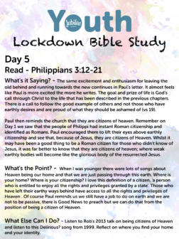 Youth Lockdown Bible Study Day 5