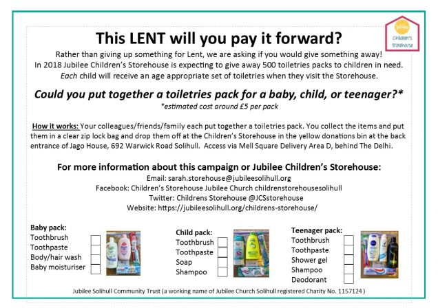 Toiletries campaign Easter 2018 A5 Final